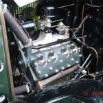 1932 Ford Model 18 Engine in Car